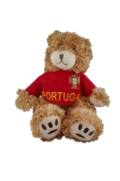 "PORTUGAL FIFA SOCCER WORLD CUP RONALDO # 7 SMALL 10"" INCHES JERSEY BEAR .. GREAT QUALITY .. NEW AND IN A PACKAGE"