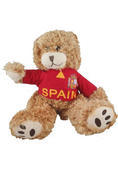 """SPAIN ESPANA FIFA SOCCER WORLD CUP SMALL 10"""" INCHES JERSEY BEAR .. GREAT QUALITY .. NEW AND IN A PACKAGE"""