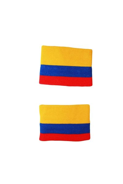 COLOMBIA COUNTRY FLAG WRISTBAND SWEATBAND .. HIGH QUALITY .. NEW AND IN A PACKAGE