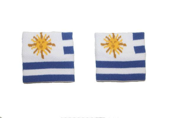 URUGUAY COUNTRY FLAG WRISTBAND SWEATBAND .. HIGH QUALITY .. NEW AND IN A PACKAGE