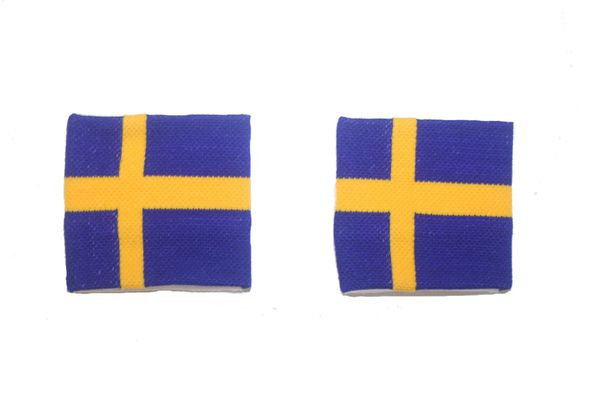 SWEDEN COUNTRY FLAG WRISTBAND SWEATBAND .. HIGH QUALITY .. NEW AND IN A PACKAGE