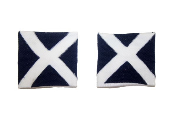 SCOTLAND ST. ANDREW CROSS COUNTRY FLAG WRISTBAND SWEATBAND .. HIGH QUALITY .. NEW AND IN A PACKAGE