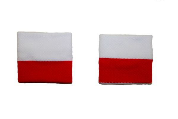POLAND COUNTRY FLAG WRISTBAND SWEATBAND .. HIGH QUALITY .. NEW AND IN A PACKAGE