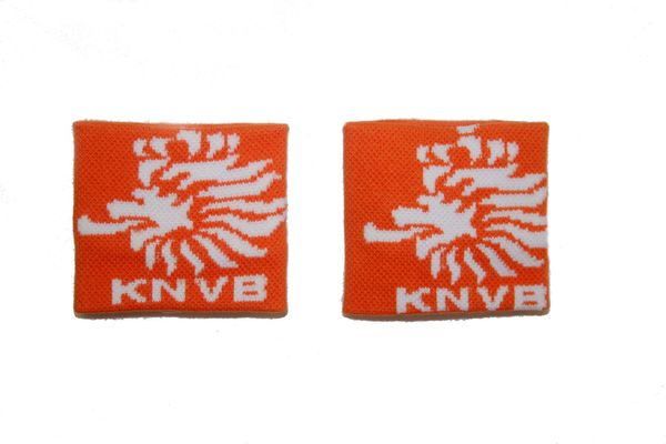 NETHERLANDS ORANGE KNVB LOGO FIFA SOCCER WORLD CUP WRISTBAND SWEATBAND .. HIGH QUALITY .. NEW AND IN A PACKAGE