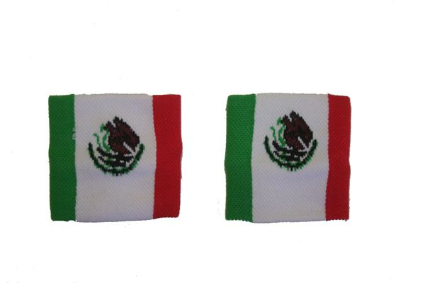 MEXICO COUNTRY FLAG WRISTBAND SWEATBAND .. HIGH QUALITY .. NEW AND IN A PACKAGE