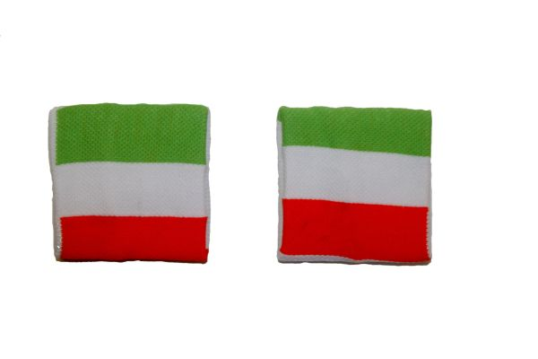ITALY COUNTRY FLAG WRISTBAND SWEATBAND .. HIGH QUALITY .. NEW AND IN A PACKAGE