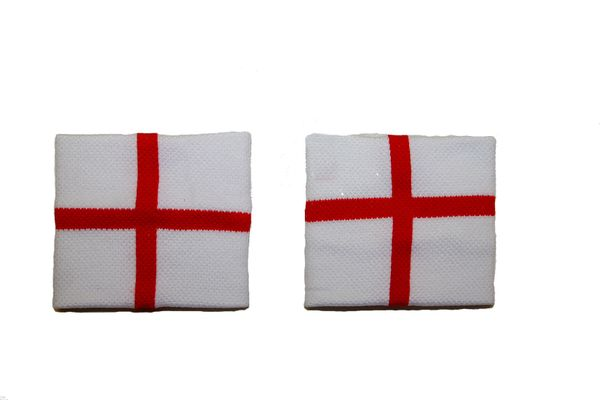 ENGLAND COUNTRY FLAG WRISTBAND SWEATBAND .. HIGH QUALITY .. NEW AND IN A PACKAGE