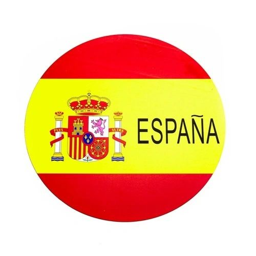 ESPANA SPAIN COUNTRY FLAG FIFA SOCCER WORLD CUP CAR MAGNET .. HIGH QUALITY .. NEW AND IN A PACKAGE