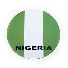 NIGERIA COUNTRY FLAG FIFA SOCCER WORLD CUP CAR MAGNET .. HIGH QUALITY .. NEW AND IN A PACKAGE