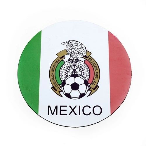 MEXICO COUNTRY FLAG FIFA SOCCER WORLD CUP CAR MAGNET .. HIGH QUALITY .. NEW AND IN A PACKAGE