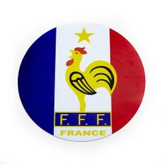 FRANCE COUNTRY FLAG FFF LOGO FIFA SOCCER WORLD CUP CAR MAGNET .. HIGH QUALITY .. NEW AND IN A PACKAGE