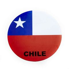 CHILE COUNTRY FLAG FIFA SOCCER WORLD CUP CAR MAGNET .. HIGH QUALITY .. NEW AND IN A PACKAGE