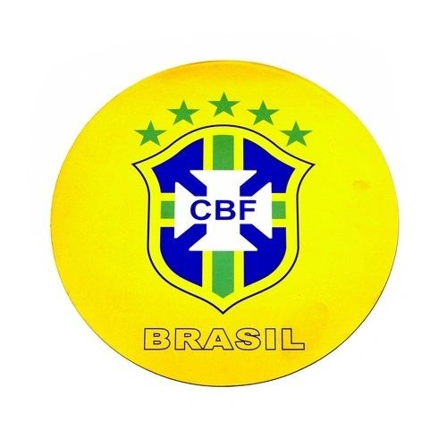 BRASIL 5 STARS CBF LOGO FIFA SOCCER WORLD CUP CAR MAGNET .. HIGH QUALITY .. NEW AND IN A PACKAGE