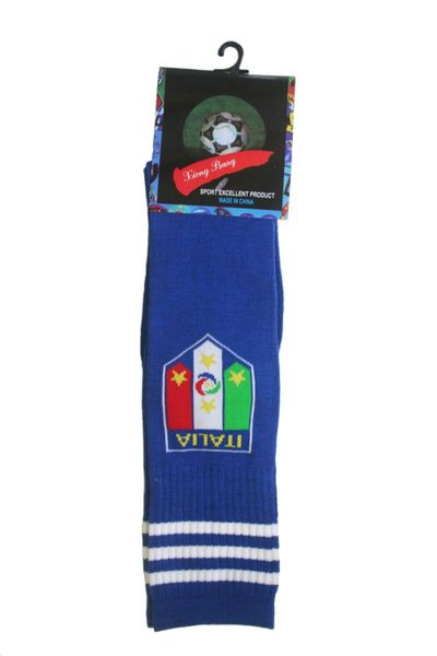 ITALIA ITALY BLUE FIGC LOGO FIFA WORLD CUP SOCKS .. HIGH QUALITY ..KID'S SIZE : AGES 6 - 10 YRS .. NEW AND IN A PACKAGE