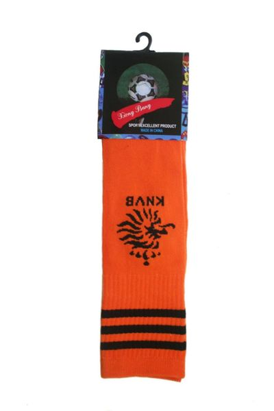 NETHERLANDS ORANGE KNVB LOGO FIFA WORLD CUP SOCKS .. HIGH QUALITY ..KID'S SIZE : AGES 6 - 10 YRS .. NEW AND IN A PACKAGE