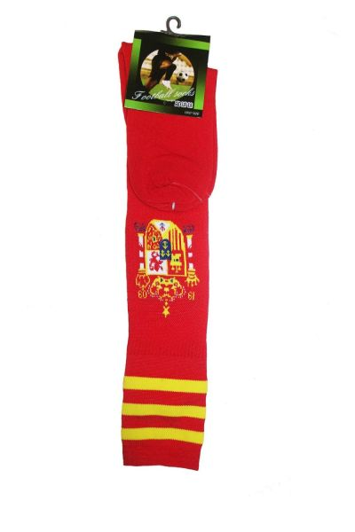 SPAIN RED FIFA WORLD CUP SOCKS .. ADULT SIZE .. HIGH QUALITY ..NEW AND IN A PACKAGE