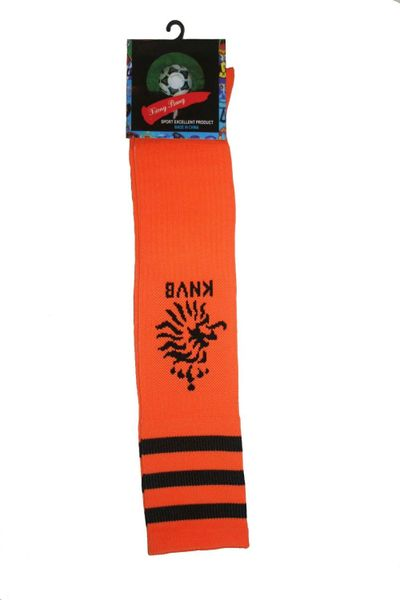 NETHERLANDS ORANGE KNVB LOGO FIFA WORLD CUP SOCKS .. ADULT SIZE .. HIGH QUALITY ..NEW AND IN A PACKAGE