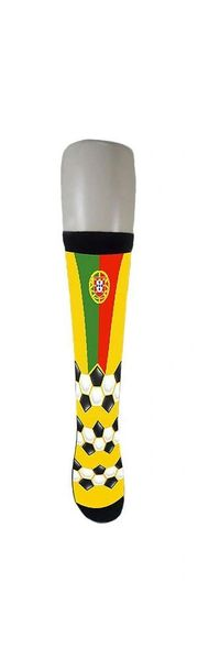 PORTUGAL COUNTRY FLAG SOCKS , FIFA WORLD CUP .. ADULT SIZE .. HIGH QUALITY .. NEW AND IN A PACKAGE