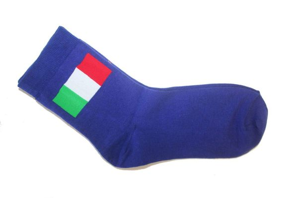 ITALY BLUE COUNTRY FLAG DRESS SOCKS .. HIGH QUALITY .. NEW AND IN A PACKAGE