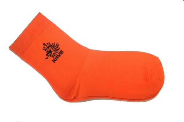 NETHERLANDS ORANGE KNVB BLACK LOGO FIFA WORLD CUP DRESS SOCKS .. HIGH QUALITY .. NEW AND IN A PACKAGE