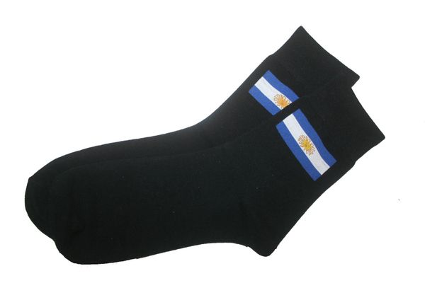 URUGUAY BLACK COUNTRY FLAG DRESS SOCKS .. HIGH QUALITY .. NEW AND IN A PACKAGE