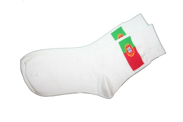 PORTUGAL WHITE COUNTRY FLAG DRESS SOCKS .. HIGH QUALITY .. NEW AND IN A PACKAGE