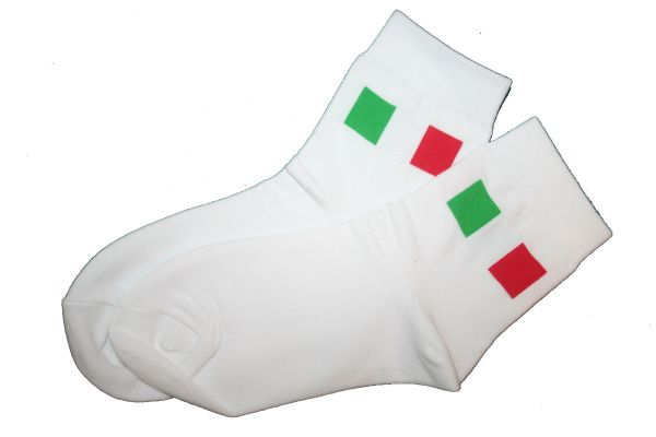 ITALY WHITE COUNTRY FLAG DRESS SOCKS .. HIGH QUALITY .. NEW AND IN A PACKAGE