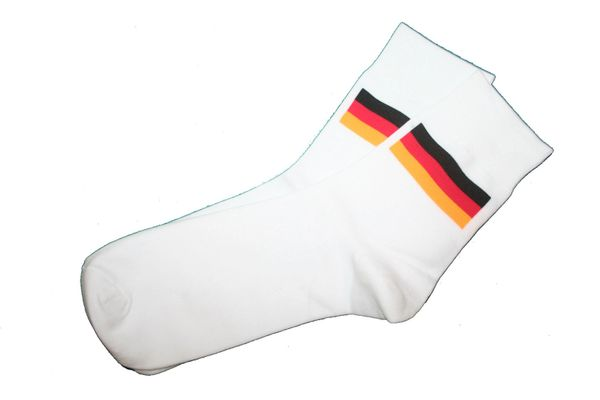 GERMANY WHITE COUNTRY FLAG DRESS SOCKS .. HIGH QUALITY .. NEW AND IN A PACKAGE