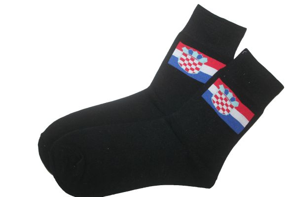 CROATIA BLACK COUNTRY FLAG DRESS SOCKS .. HIGH QUALITY .. NEW AND IN A PACKAGE