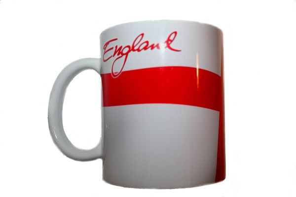 ENGLAND COUNTRY FLAG CERAMIC COFFEE MUG CUP .. HIGH QUALITY .. NEW AND IN A PACKAGE