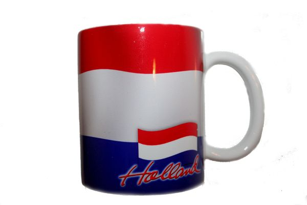 HOLLAND NETHERLANDS COUNTRY FLAG CERAMIC COFFEE MUG CUP .. HIGH QUALITY .. NEW AND IN A PACKAGE