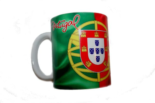 PORTUGAL COUNTRY FLAG CERAMIC COFFEE MUG CUP .. HIGH QUALITY .. NEW AND IN A PACKAGE