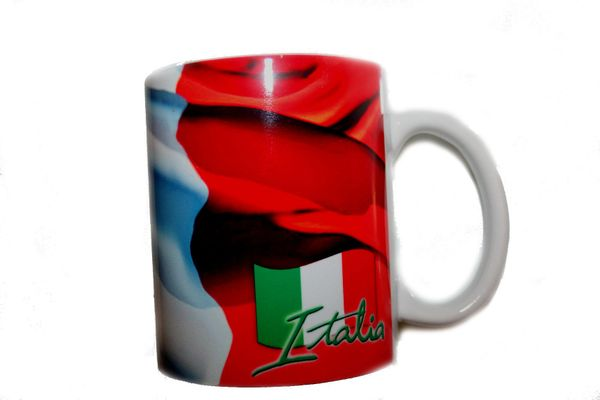 ITALIA ITALY COUNTRY FLAG CERAMIC COFFEE MUG CUP .. HIGH QUALITY .. NEW AND IN A PACKAGE