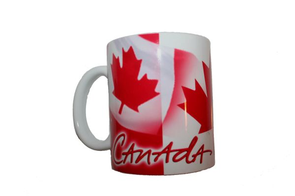 CANADA COUNTRY FLAG CERAMIC COFFEE MUG CUP .. HIGH QUALITY .. NEW AND IN A PACKAGE