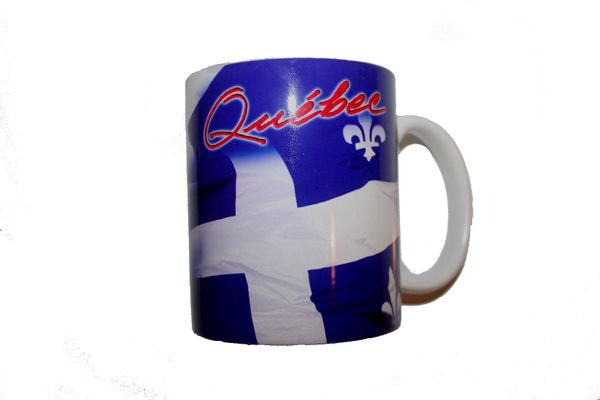 QUEBEC - CANADA COUNTRY FLAG CERAMIC COFFEE MUG CUP .. HIGH QUALITY .. NEW AND IN A PACKAGE