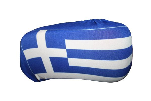 GREECE COUNTRY FLAG CAR SIDE MIRROR COVERS 2 IN A PACK .. HIGH QUALITY .. NEW AND IN A PACKAGE