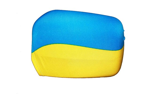 UKRAINE COUNTRY FLAG CAR SIDE MIRROR COVERS 2 IN A PACK .. HIGH QUALITY .. NEW AND IN A PACKAGE