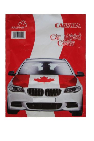 CANADA COUNTRY FLAG FIFA WORLD CUP CAR HOOD COVER .. HIGH QUALITY .. NEW AND IN A PACKAGE