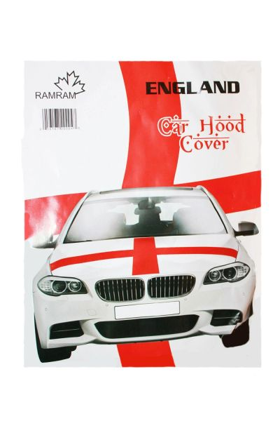 ENGLAND COUNTRY FLAG FIFA WORLD CUP CAR HOOD COVER .. HIGH QUALITY .. NEW AND IN A PACKAGE