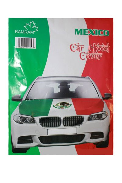MEXICO COUNTRY FLAG FIFA WORLD CUP CAR HOOD COVER .. HIGH QUALITY ..NEW AND IN A PACKAGE