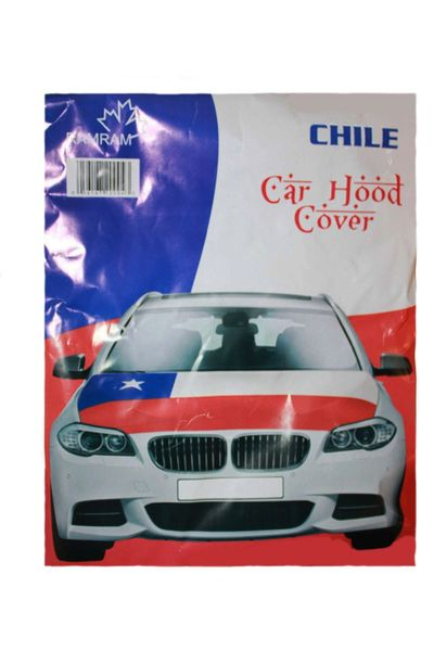 CHILE COUNTRY FLAG FIFA WORLD CUP CAR HOOD COVER .. HIGH QUALITY .. NEW AND IN A PACKAGE