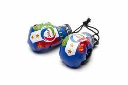 ITALY BLUE FIGC LOGO FIFA WORLD CUP MINI BOXING GLOVERS .. HIGH QUALITY .. NEW AND IN A PACKAGE