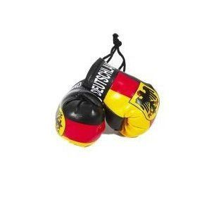 DEUTSCHLAND GERMANY WITH EAGLE COUNTRY FLAG MINI BOXING GLOVERS .. HIGH QUALITY .. NEW AND IN A PACKAGE
