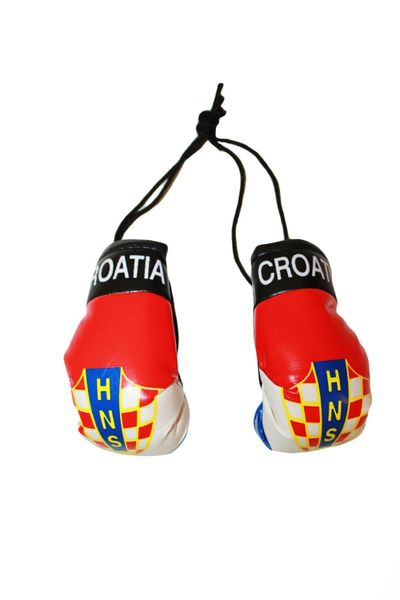CROATIA HNS LOGO FIFA WORLD CUP MINI BOXING GLOVERS .. HIGH QUALITY .. NEW AND IN A PACKAGE