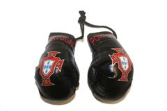 PORTUGAL BLACK FPF LOGO FIFA WORLD CUP MINI BOXING GLOVERS .. HIGH QUALITY .. NEW AND IN A PACKAGE