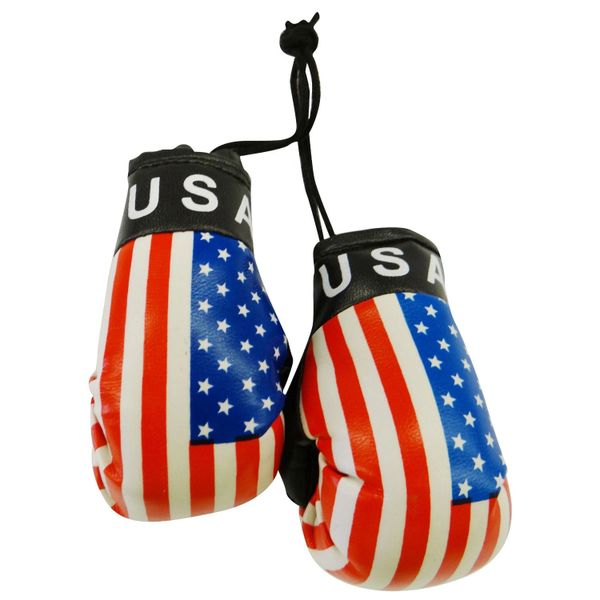 USA COUNTRY FLAG MINI BOXING GLOVERS .. HIGH QUALITY .. NEW AND IN A PACKAGE