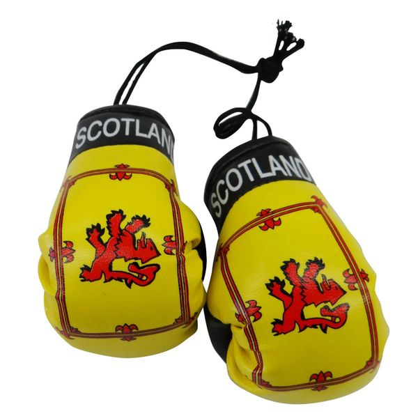 SCOTLAND LION RAMPANT COUNTRY FLAG MINI BOXING GLOVERS .. HIGH QUALITY .. NEW AND IN A PACKAGE