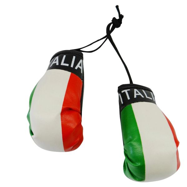 ITALIA ITALY COUNTRY FLAG MINI BOXING GLOVERS .. HIGH QUALITY .. NEW AND IN A PACKAGE