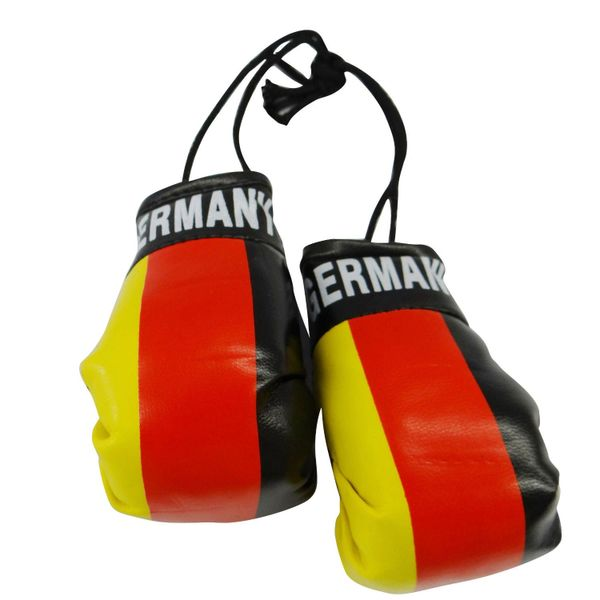 GERMANY COUNTRY FLAG MINI BOXING GLOVERS .. HIGH QUALITY .. NEW AND IN A PACKAGE
