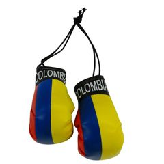 COLOMBIA COUNTRY FLAG MINI BOXING GLOVERS .. HIGH QUALITY .. NEW AND IN A PACKAGE